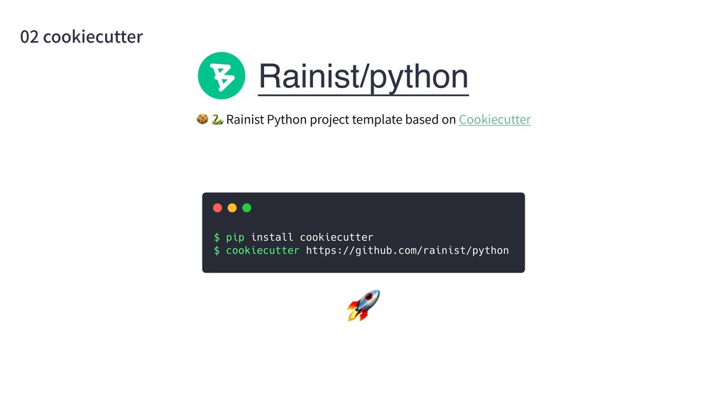 Rainist/python 02 cookiecutter   Rainist Python...