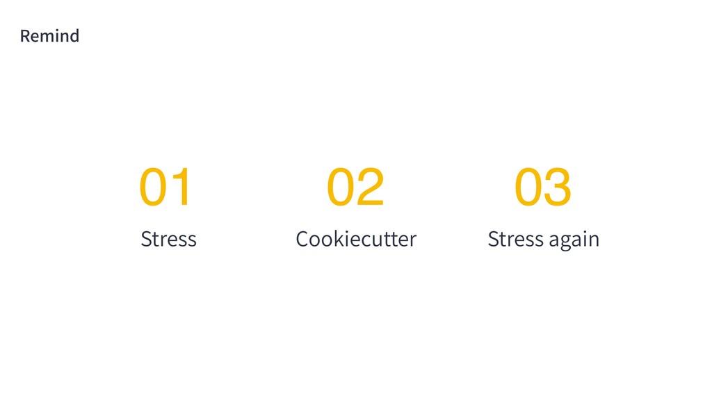 Remind Stress 01 Cookiecutter 02 Stress again 03