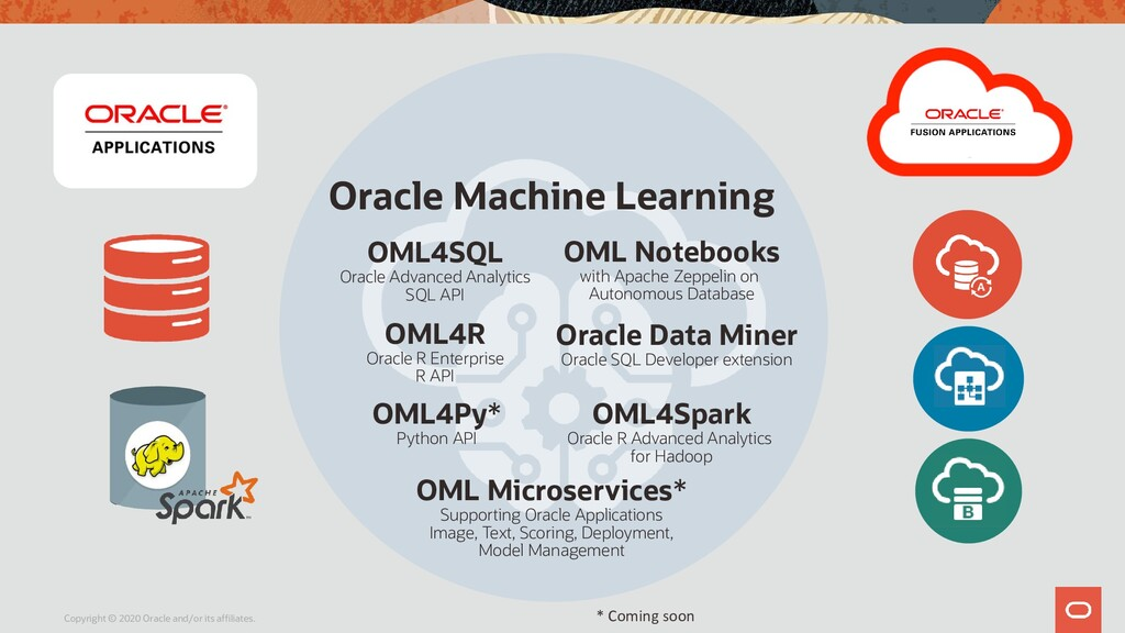 d Oracle Machine Learning OML Microservices* Su...