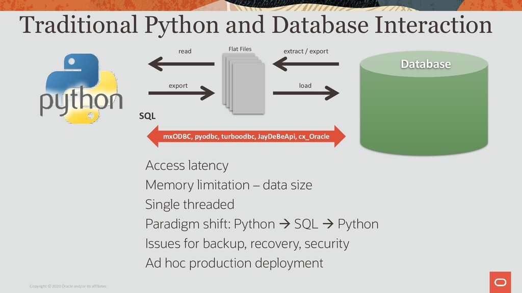 Traditional Python and Database Interaction Acc...