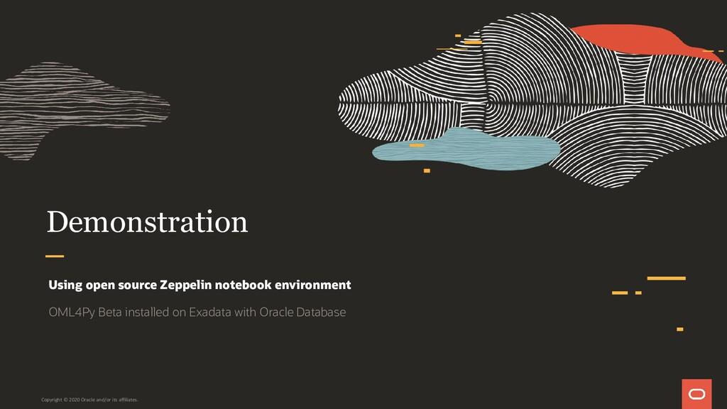 Demonstration Using open source Zeppelin notebo...