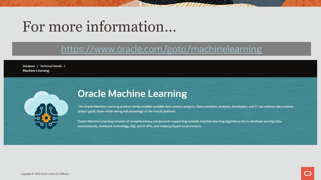 For more information… https://www.oracle.com/go...