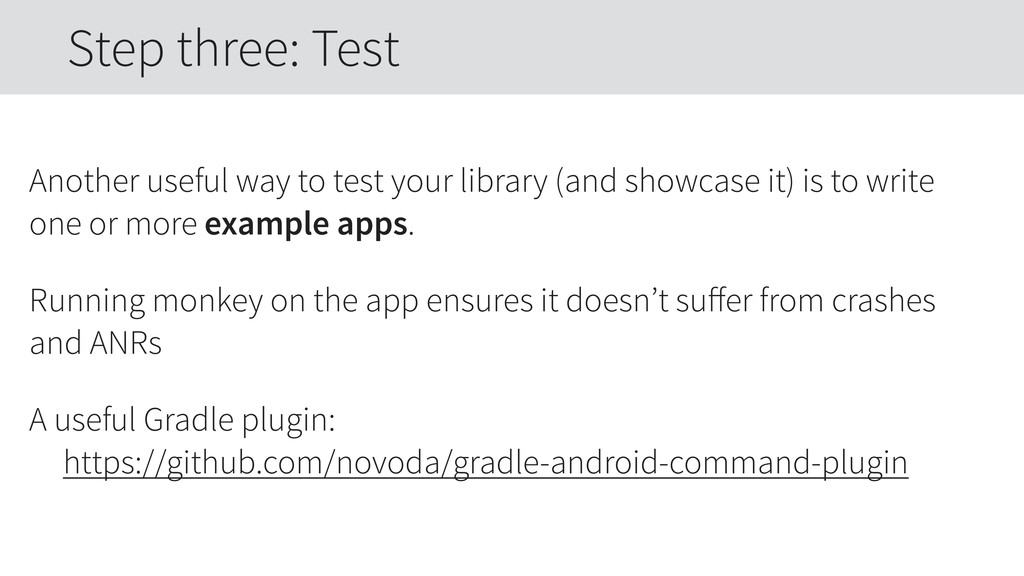 Another useful way to test your library (and sh...