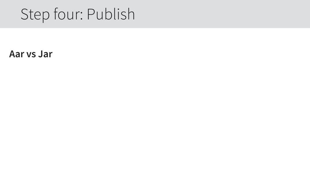 Aar vs Jar Step four: Publish