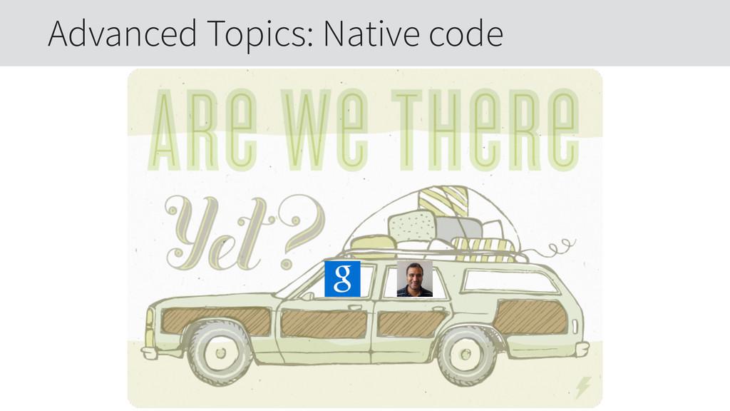 Advanced Topics: Native code