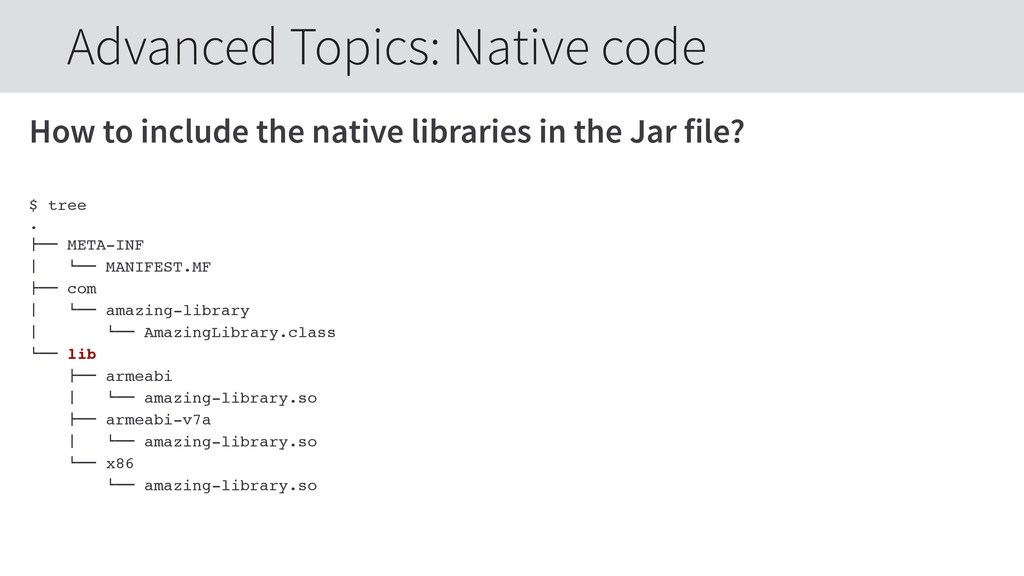 How to include the native libraries in the Jar ...