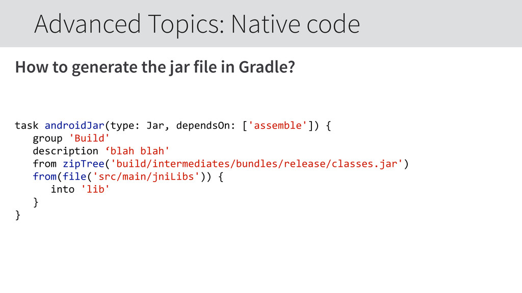 How to generate the jar file in Gradle? task a...