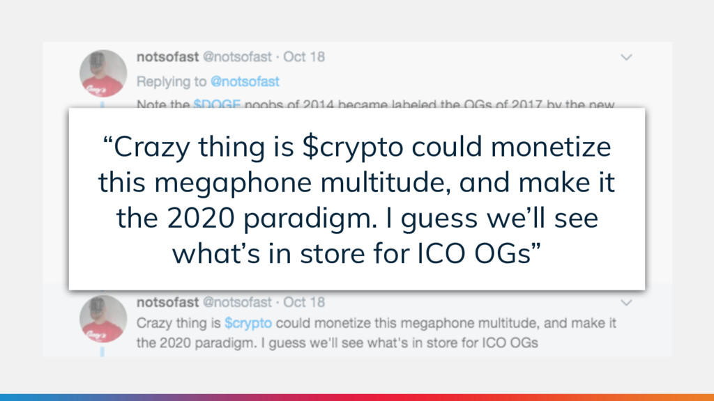 """""""Crazy thing is $crypto could monetize this meg..."""