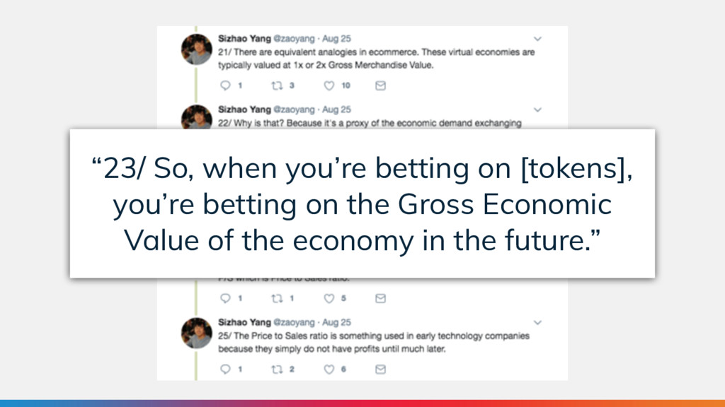 """""""23/ So, when you're betting on [tokens], you'r..."""