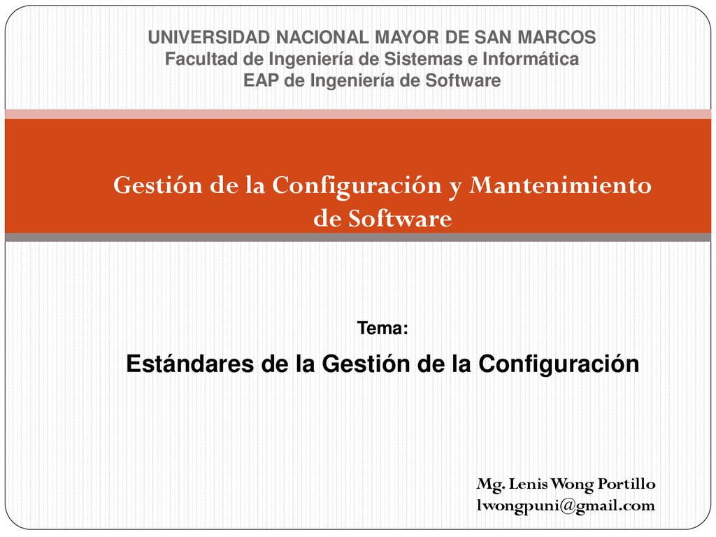 Gestión de la Configuración y Mantenimiento de ...