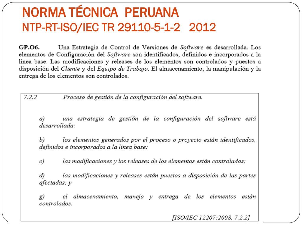 NORMA TÉCNICA PERUANA NTP-RT-ISO/IEC TR 29110-5...