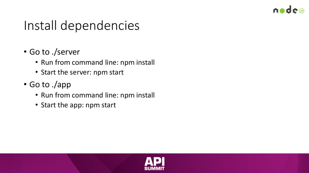 Install dependencies • Go to ./server • Run fro...