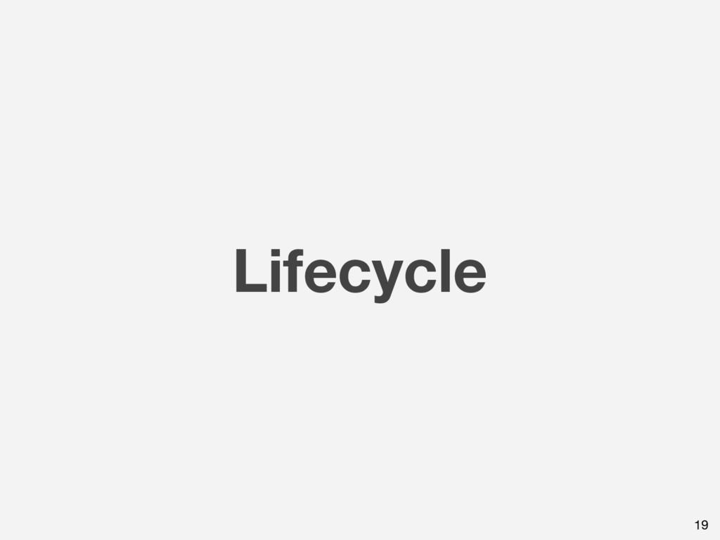Lifecycle 19