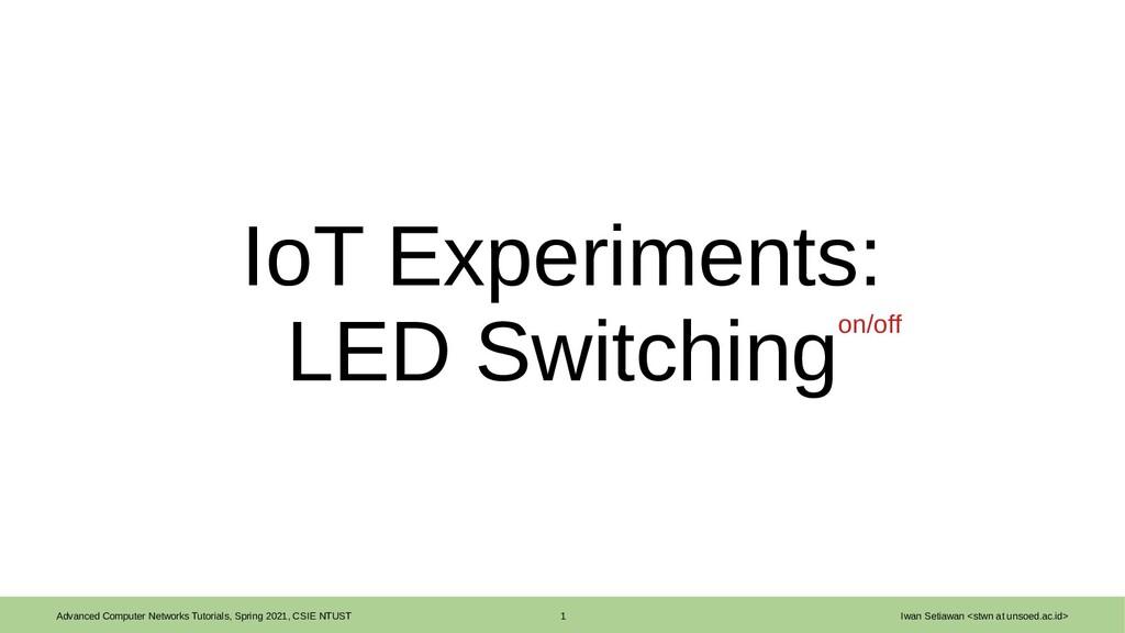 Advanced Computer Networks Tutorials, Spring 20...