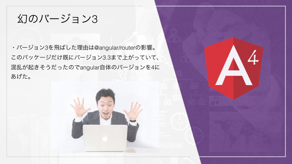 ݬͷόʔδϣϯ3 ɾόʔδϣϯ3Λඈͨ͠ཧ༝@angular/routerͷӨڹɻ ͜ͷύ...