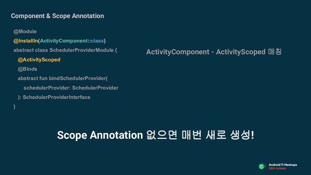 Component & Scope Annotation @Module @InstallIn...