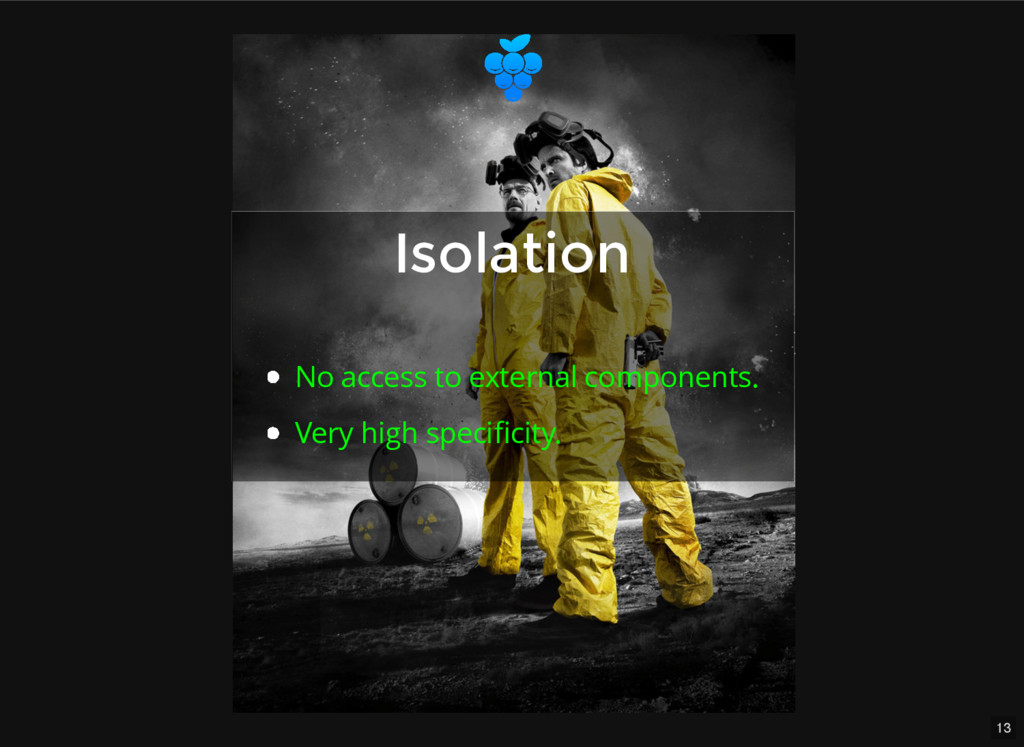 13 Isolation Isolation No access to external co...