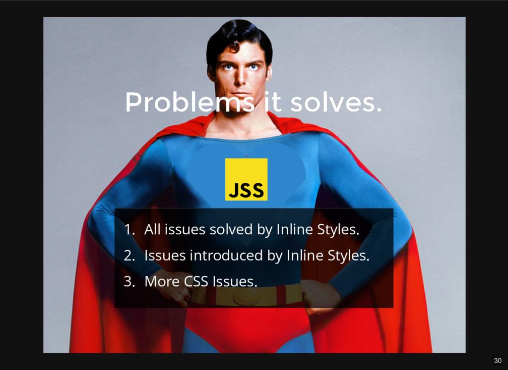 30 Problems it solves. Problems it solves. 1. A...