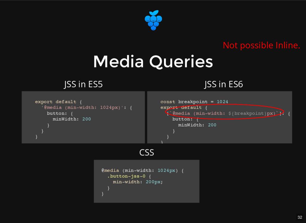 32 Media Queries Media Queries export default {...