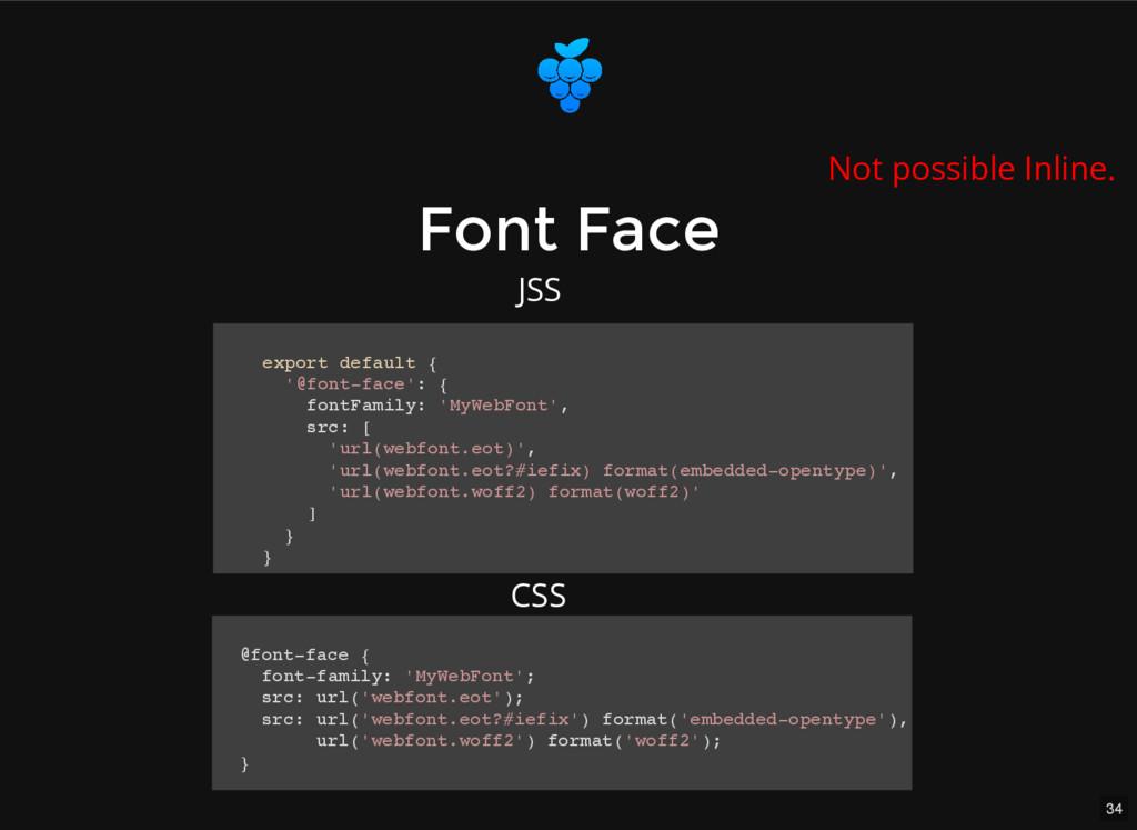 34 Font Face Font Face export default { '@font-...