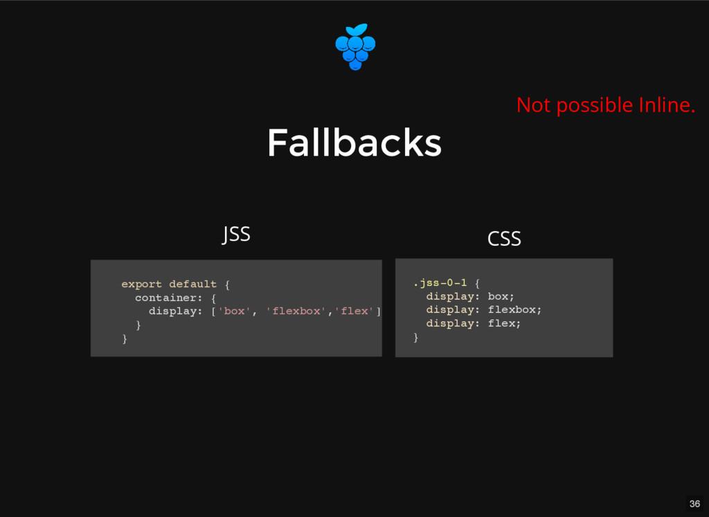 36 Fallbacks Fallbacks export default { contain...