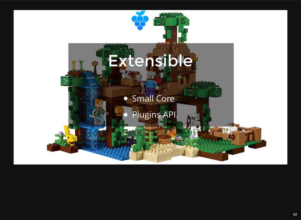 42 Extensible Extensible Small Core Plugins API.