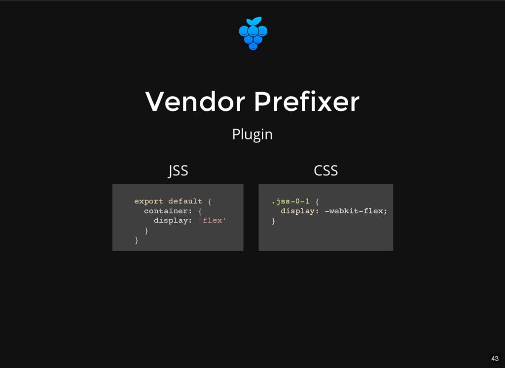 43 Vendor Prefixer Vendor Prefixer Plugin expor...
