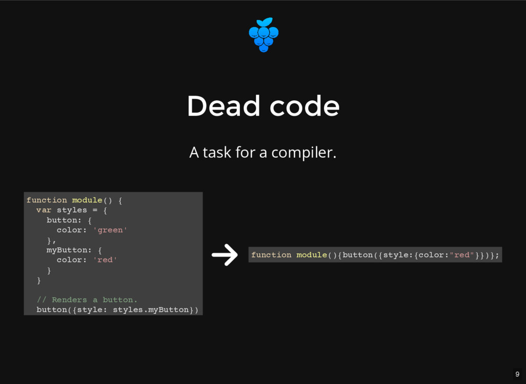 9 Dead code Dead code A task for a compiler. fu...