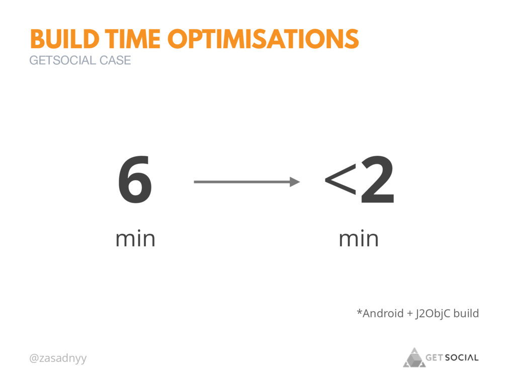 @zasadnyy BUILD TIME OPTIMISATIONS GETSOCIAL CA...