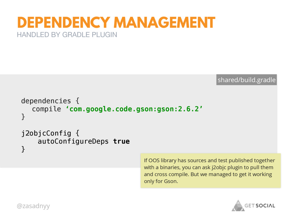 @zasadnyy DEPENDENCY MANAGEMENT HANDLED BY GRAD...