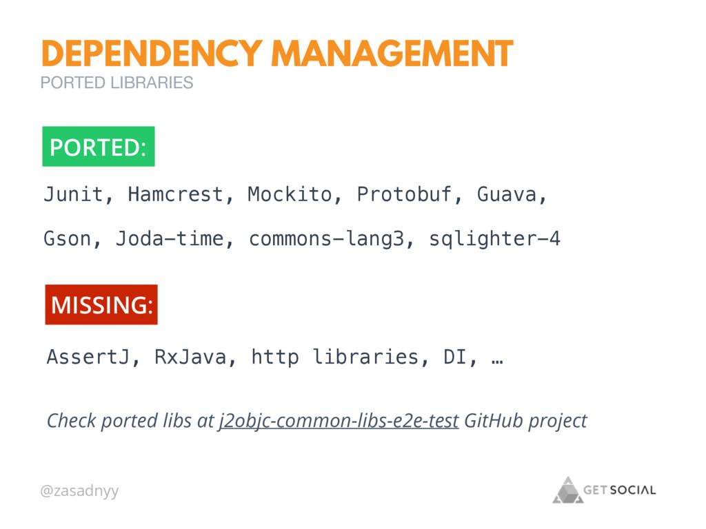 @zasadnyy Check ported libs at j2objc-common-li...