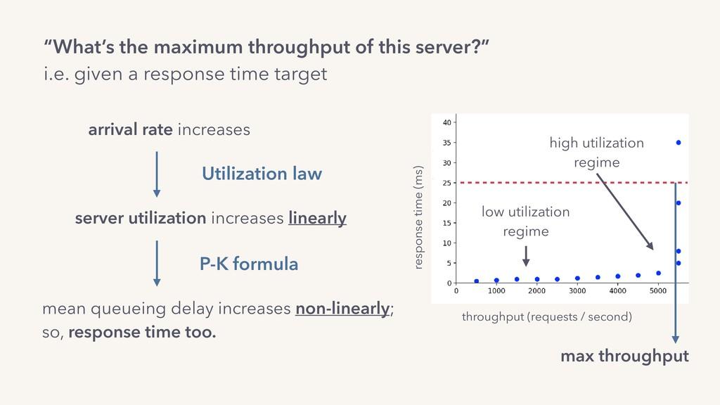 """""""What's the maximum throughput of this server?""""..."""