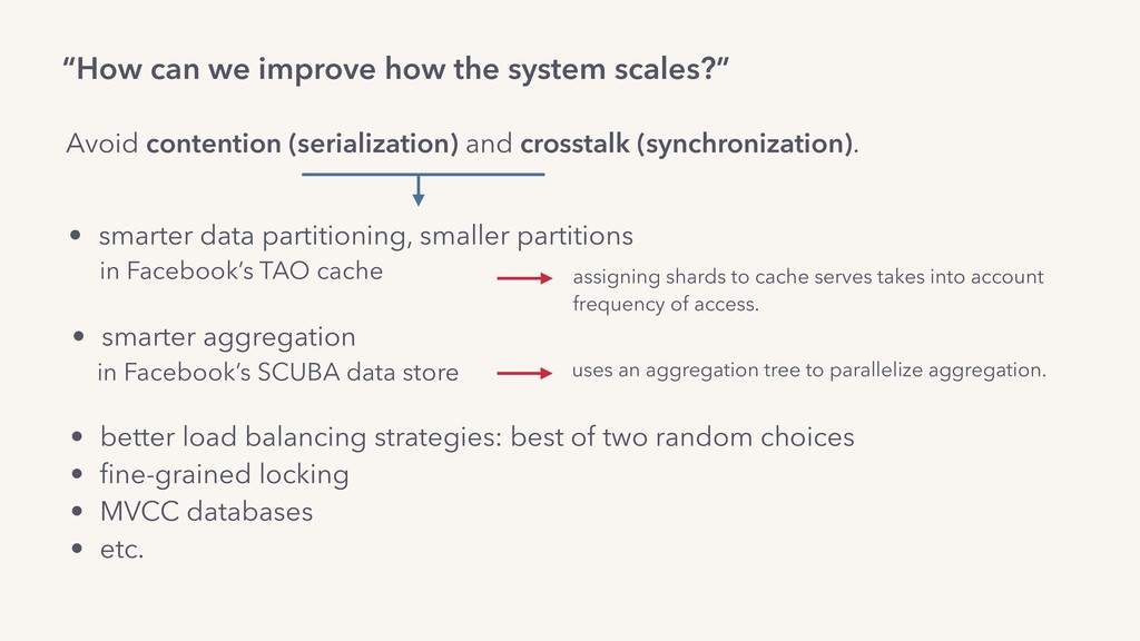 """How can we improve how the system scales?"" Avo..."