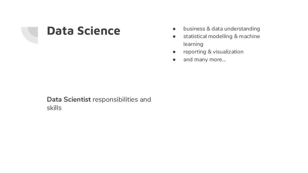 Data Science ● business & data understanding ● ...