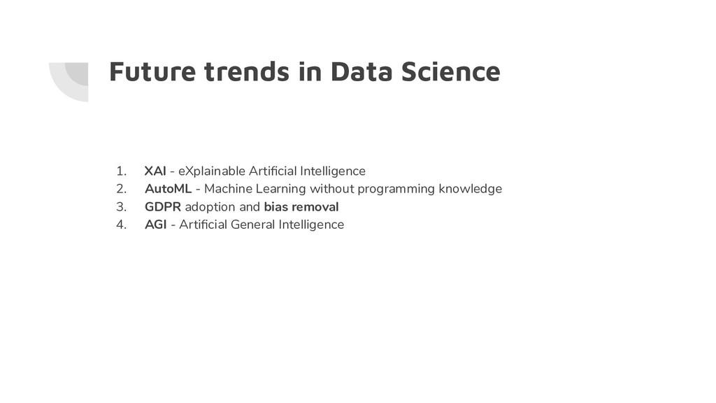 Future trends in Data Science 1. XAI - eXplaina...