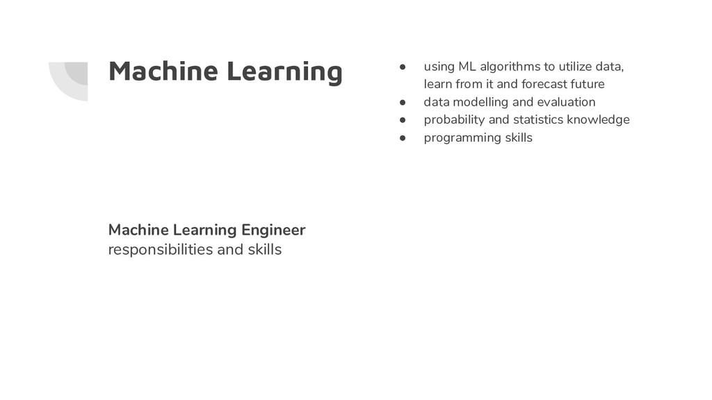 Machine Learning ● using ML algorithms to utili...