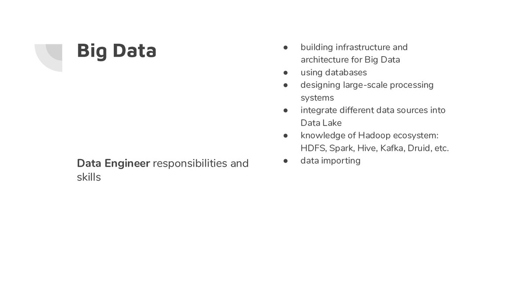 Big Data ● building infrastructure and architec...