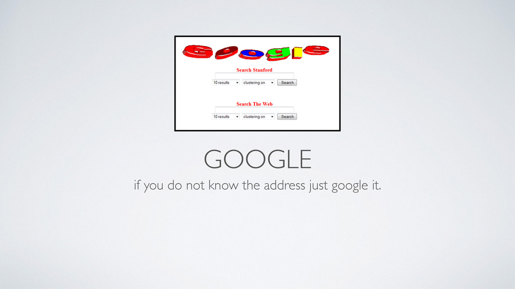 GOOGLE if you do not know the address just goog...