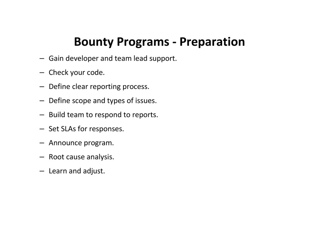 Bounty Programs - Preparation – Gain developer ...