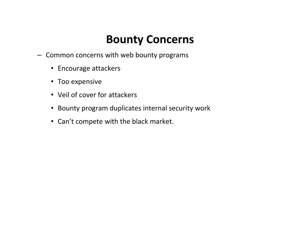 Bounty Concerns – Common concerns with web boun...