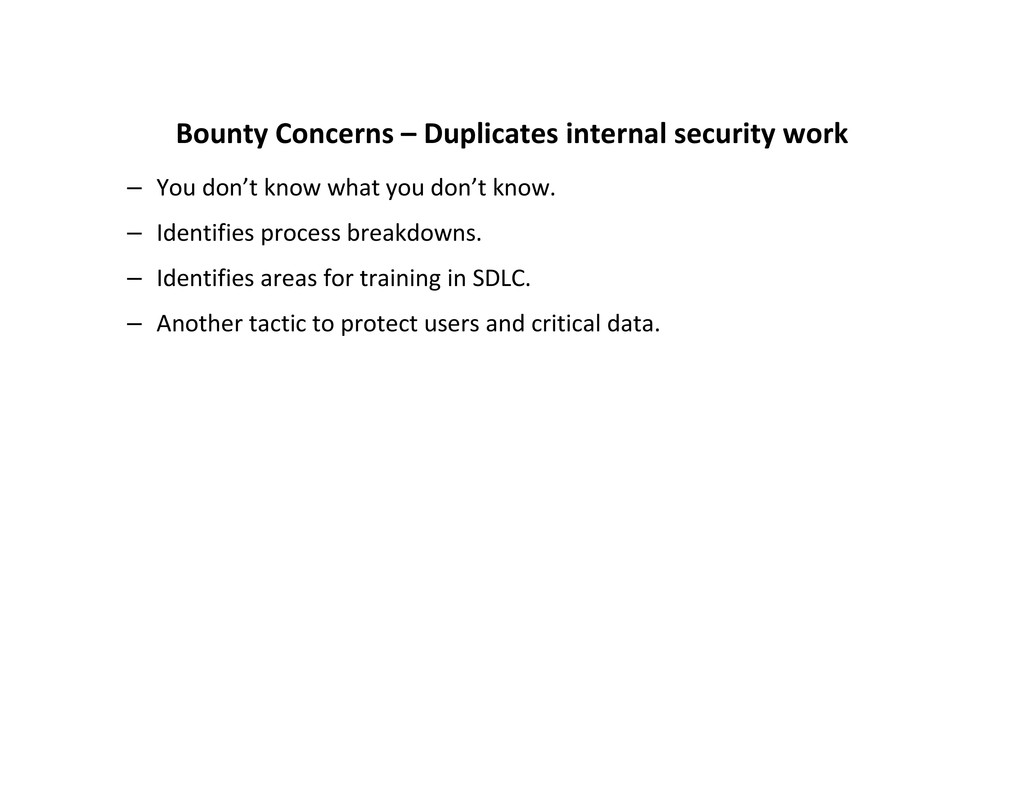 Bounty Concerns – Duplicates internal security ...