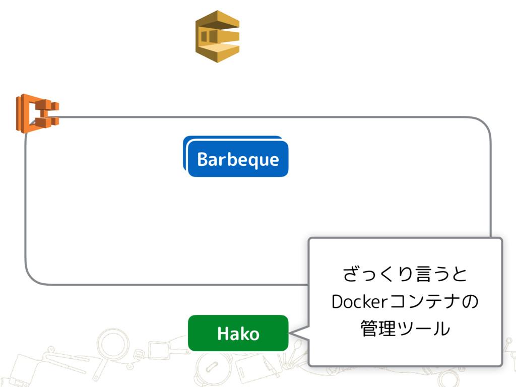 Barbeque Barbeque Hako ざっくり言うと Dockerコンテナの 管理ツ...