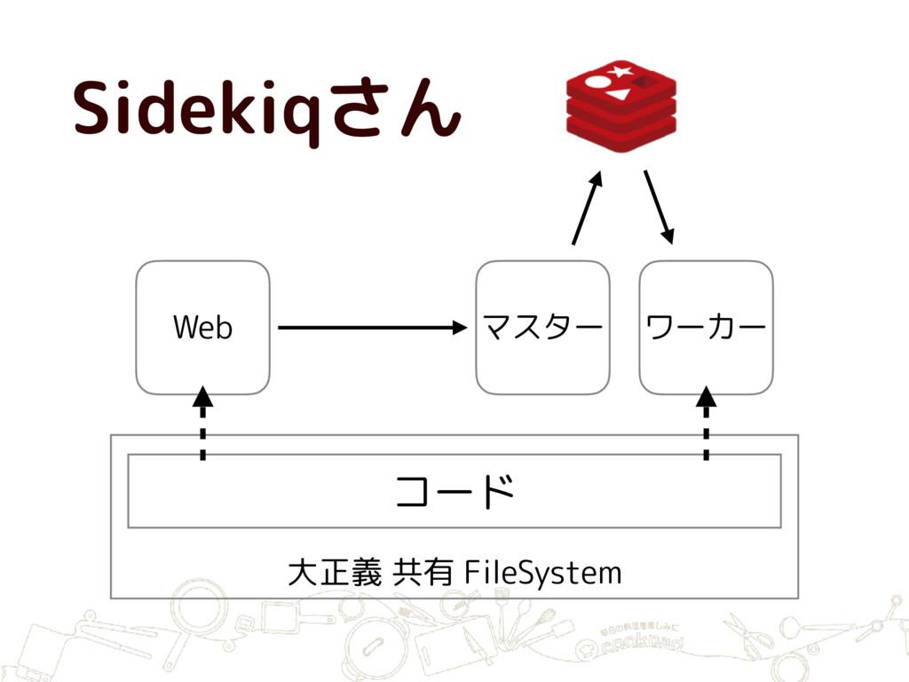 大正義 共有 FileSystem コード Web マスター ワーカー Sidekiqさん