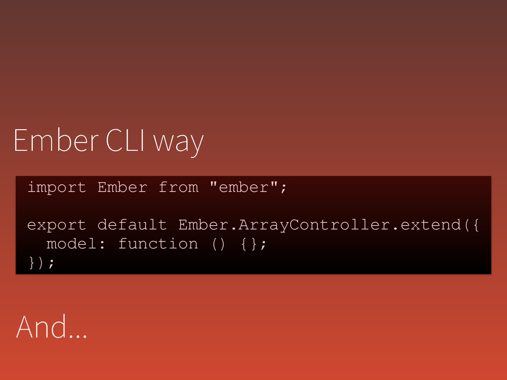 """&NCFS$-*XBZ import Ember from """"ember""""; ! expo..."""