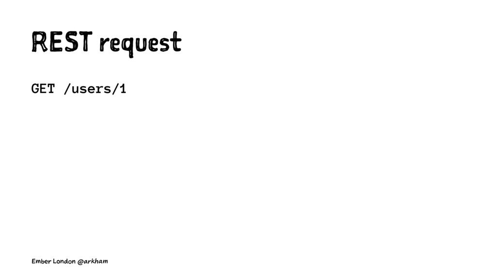 REST request GET /users/1 Ember London @arkham