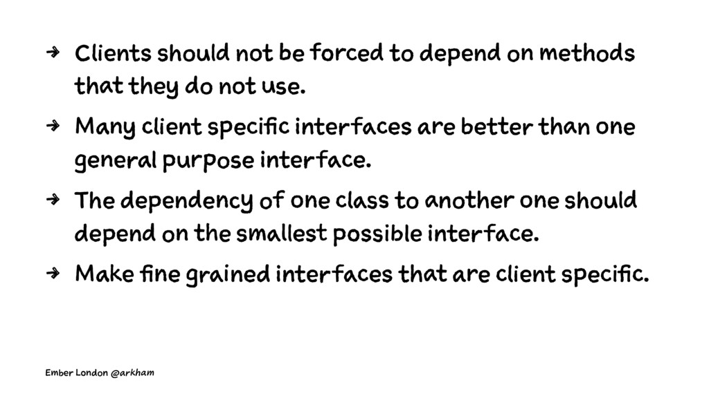 4 Clients should not be forced to depend on met...