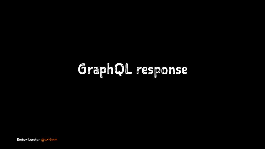 GraphQL response Ember London @arkham