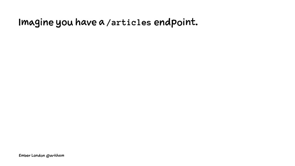 Imagine you have a /articles endpoint. Ember Lo...