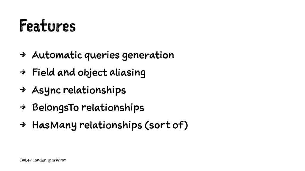 Features 4 Automatic queries generation 4 Field...