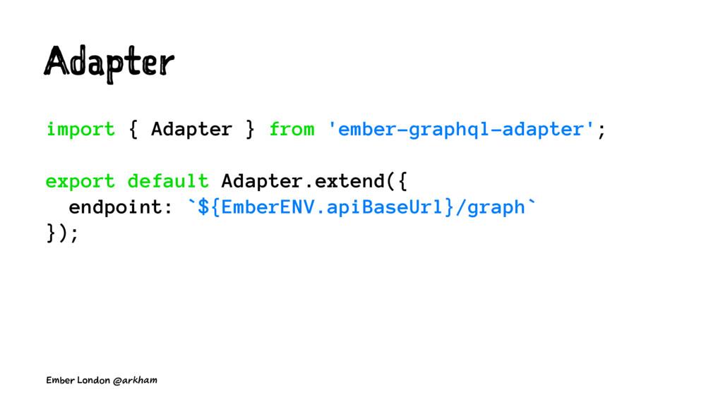 Adapter import { Adapter } from 'ember-graphql-...